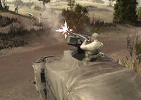 Unit M3 Halftrack M2HB Firing