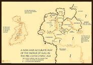 A Map of Robert E. Howard's Thurian Age Nations by Brian Kunde