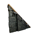Right-sloping Black Ice-Reinforced Wooden Wall