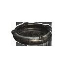 铁制成的平底锅