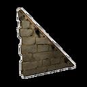 加固的右斜石墙