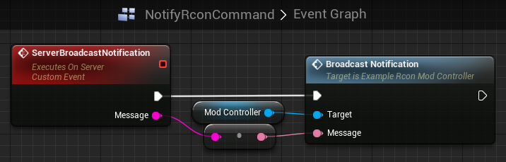 Event graph for NotifyRconCommand