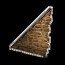 Left-sloping Stonebrick Wall