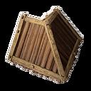 木制屋顶角