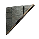 Right-sloping Inverted Black Ice-Reinforced Wall