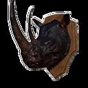 黑犀牛头战利品