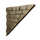Right-sloping Inverted Reinforced Stone Wall