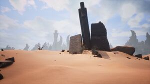Giant-king Lorestone about Klael's Stronghold (south of Shattered Springs).jpg