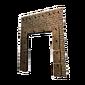 Portail en pierre renforcé