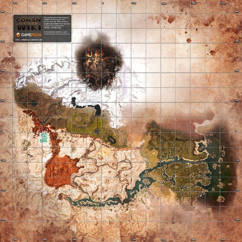 标有符合游戏数据的网格的地图
