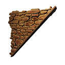 右斜倒置砂岩牆