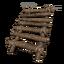 Simple wood stairs