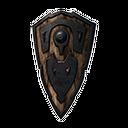 无瑕的钢制斗盾