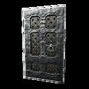 Black Ice-Reinforced Wooden Door