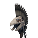 Exceptional Hyena Skull Helmet