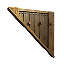 Left-sloping Inverted Insulated Wood Wall