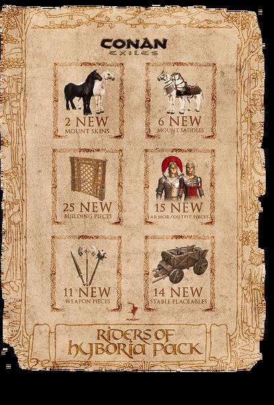 Riders of Hyboria Pack DLC collage