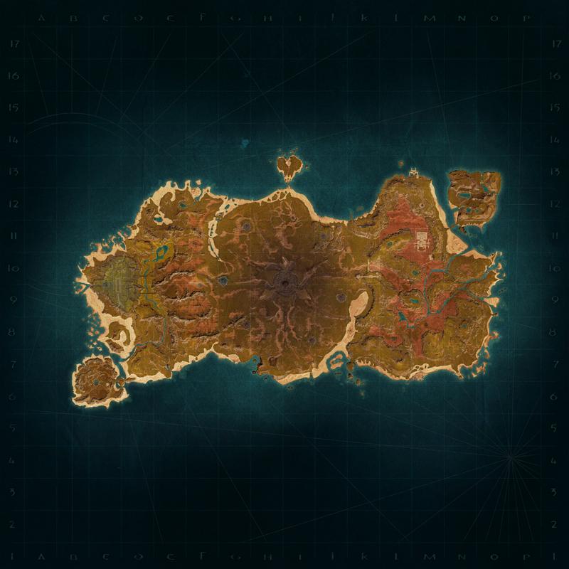 Isle of Siptah map
