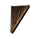 Inverted Wooden Wedge Sloped Roof