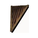 倒置的木質斜式屋頂三角部件