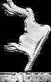 Steel-textured Funcom logo