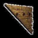 Left-sloping Inverted Stonebrick Wall