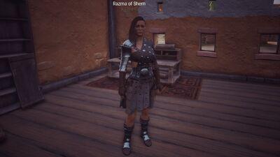 Razma at her house.