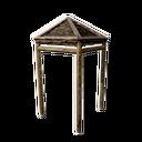 加固的木制遮篷角