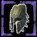 无瑕的爬行动物头盔