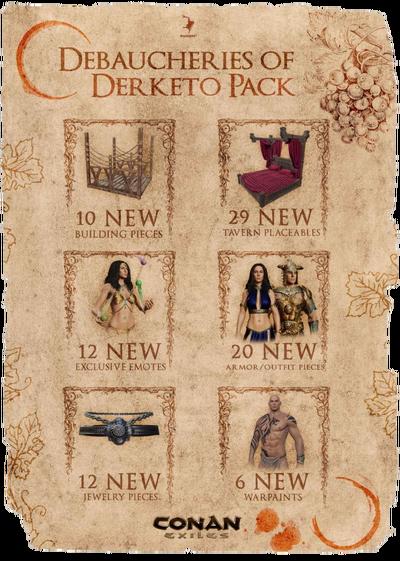 Debaucheries of Derketo Pack DLC collage