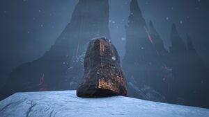 Lemurian Lorestone at The Black Keep (highest Peak northwest of it).jpg