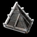 Black Ice-Reinforced Sloped Roof Corner