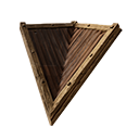 Inverted Wooden Sloped Roof Corner