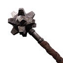 Exceptional Studded Iron Mace