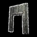 Black Ice-Reinforced Wooden Gateway