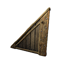 Left-sloping Insulated Wooden Wall