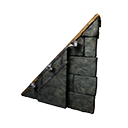 Left-sloping Black Ice-Reinforced Wooden Wall