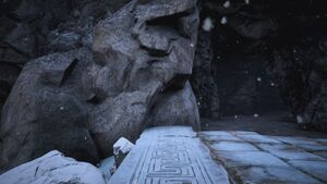 Lemurian Lorestone at The Passage (Snowbiome entrance).jpg