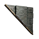Left-sloping Inverted Black Ice-Reinforced Wall