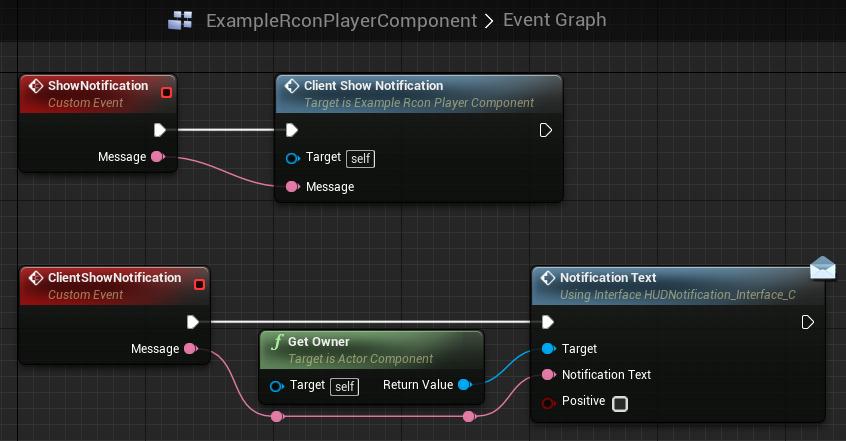 The blueprint's event graph