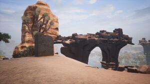Giant-king Lorestone about Shattered Bridge (north).jpg