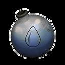装满水的玻璃烧瓶