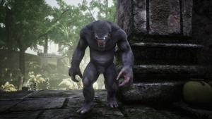 Scimmia grigia corrotta