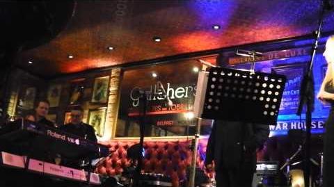 Van Morrison sings 'Whenever God Shines His Light' at The Harp Bar in Belfast 31 12 13