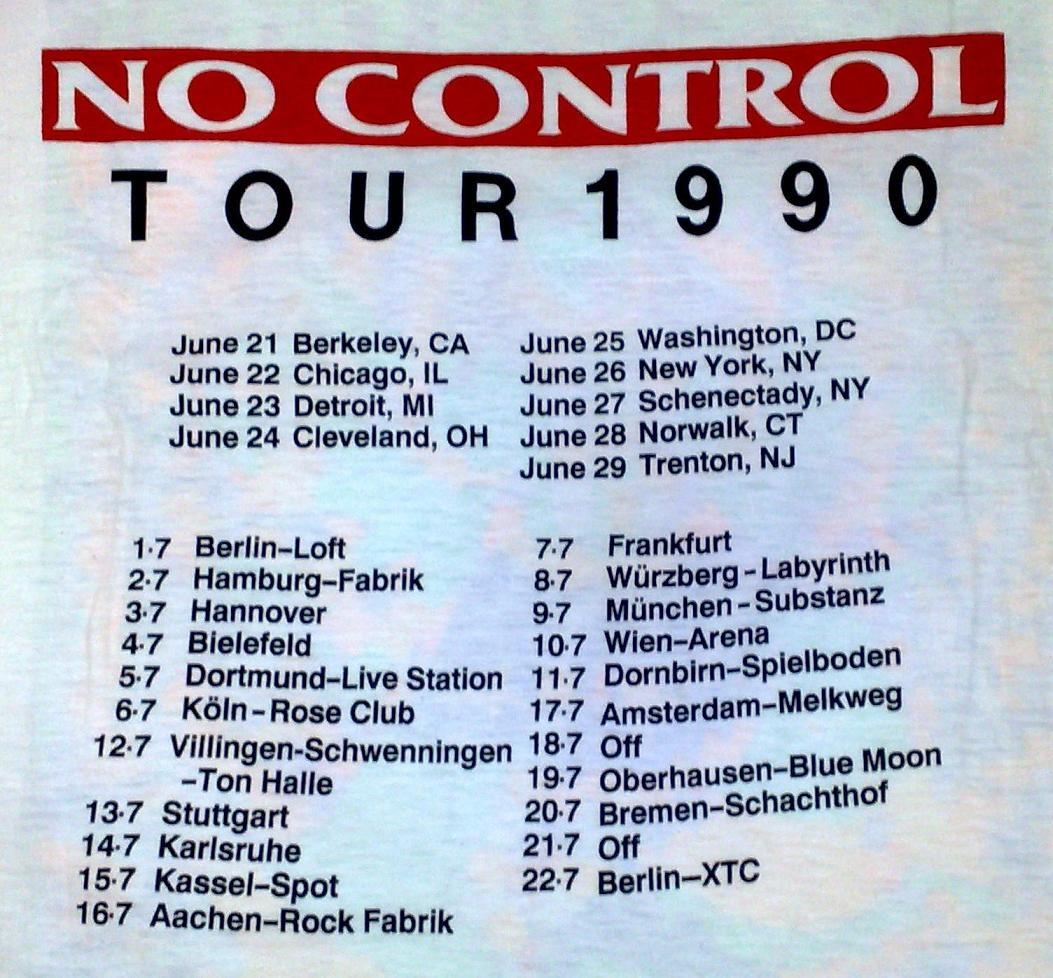No Control Tour