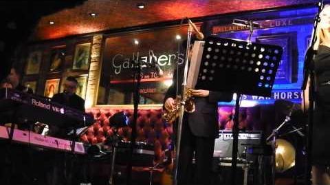 Van Morrison sings 'Brown Eyed Girl' at The Harp Bar, Belfast 31 12 13