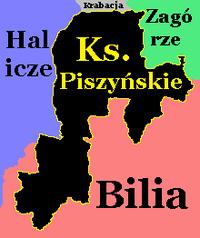 Księstwo Piszyńskie na mapie