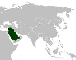 Zjednoczony Kalifat Arabski na mapie