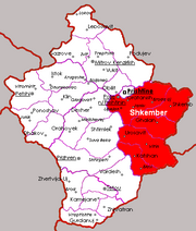 Region Kamieniec na mapie