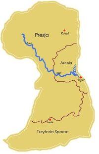 Królestwo Arenii na mapie